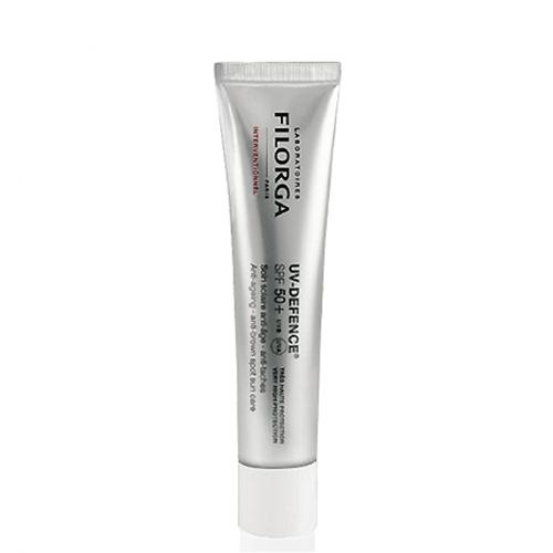 Filorga Солнцезащитный крем UV-Defence 40 млDCGP031Солнцезащитный крем УВ-Дефенс эффективно защищает кожу от фотостарения и пигментации. Солнцезащитные фильтры, усиленные СанАктином и витамином Е, блокируют UVA и UVB лучи и оказывают антиоксидантное действие. Обеспечивает максимальную степень защиты SPF 50 +. Экстракт хмеля препятствует появлению пигментных пятен и регулирует синтез меланина.NCTF в сочетании с гиалуроновой кислотой восстанавливает структуру кожи, активизирую клеточную регенерацию. Экстракт бурой водоросли поддерживает оптимальный уровень увлажнения, предупреждая обезвоживание. Можно использовать для кожи после косметологических процедур (инъекции, пилинги, лазер) Эффективно защищает кожу от фотостарения и пигментаци