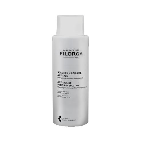 Filorga Мицеллярный раствор Anti-Age 400 млDCGP037Мицеллярный раствор Anti-Age - гармоничное дополнение к средствам марки против старения кожи. Бережно очищает кожу и удаляет макияж без раздражения. Трегалоза способствует сохранению влаги в клетках и обеспечивает коже максимальный комфорт. Полисахарид рамнозы оказывает успокаивающее и восстанавливающее действие, и борется со старением кожи. Удаление макияжа и очищение - это первый и самый важный этап ритуала красоты вашей кожи. Он подготавливает кожу к дальнейшему нанесению средств против старения и повышает эффективность их действия. Эффективность: 100% не раздражает глаза; 73% удаляет макияж, даже водостойкий; 95% сохраняет физиологические свойства кожи; 91% дарит ощущение комфорта; 77% увлажняет кожу; Тест, проведенный под офтальмологическим контролем на 22 пациентах от 24 до 70 лет: применение 2 раза в день в течение 7 дней, лицо и глаза. Бережно очищает кожу и удаляет макияж без раздражения. Придает ощущение мягкости и...