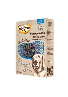 Беззерновое лакомство Мнямс для собак Grain Free с лососем 100 г701597Дополнительное питание для взрослых и растущих собак (с 3-х месяцев). Гипоаллергенное, полувлажное, мягкое лакомство произведено методом холодного экструдирования для сохранения полезных свойств питательных веществ с использованием одного вида животного белка. Содержит более 70% мяса. Не содержит: зерновые, молочные, соевые ингредиенты, говяжьи или свиные продукты. Условия хранения: в прохладном темном месте
