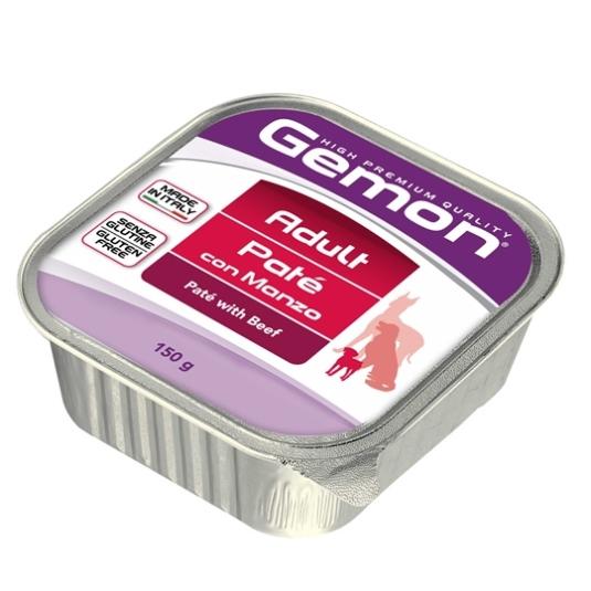 Консервы Gemon Dog для собак паштет говядина 150 г70300414Гарантированный анализ: Сырой белок 8,5%, сырые масла и жиры 6,0%, сырая клетчатка 0,4%, сырая зола 1,5%, влажность 80%. Витамины и добавки/кг: витамин А 2500 МЕ, витамин D3 250 МЕ, витамин Е (альфа-токоферол ацетат) 10 мг.Мясо и мясные субпродукты 80% (говядина 10%), минеральные вещества. Технологические добавки: загустители и желеобразующие компоненты. Подавать корм комнатной температуры или подогретый. Важно, чтобы животное всегда имело доступ к чистой, свежей воде. Взрослой кошке необходимо 400 г продукта в день, суточную норму разделить на 2-3 приема пищи. Условия хранения: в прохладном темном месте