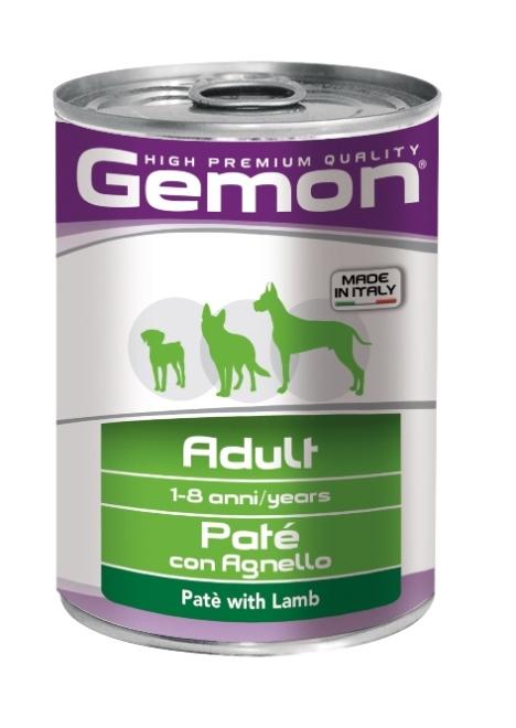 Консервы Gemon Dog для собак паштет ягненок 400 г70387811Гарантированный анализ: Сырой белок 8,0%, сырые масла и жиры 6,5%, сырая клетчатка 0,3%, сырая зола 1,5%, влажность 80%. Витамины и добавки/кг: витамин А 2500 МЕ, витамин D3 250 МЕ, витамин Е (альфа-токоферол ацетат) 10 мг.Мясо и мясные субпродукты 80% (ягненок 9,5%), минеральные вещества. Технологические добавки: загустители и желеобразующие компоненты. Подавать корм комнатной температуры или подогретый. Важно, чтобы животное всегда имело доступ к чистой, свежей воде. Суточная норма составляет 40-50 г продукта на каждый кг веса животного. Условия хранения: в прохладном темном месте