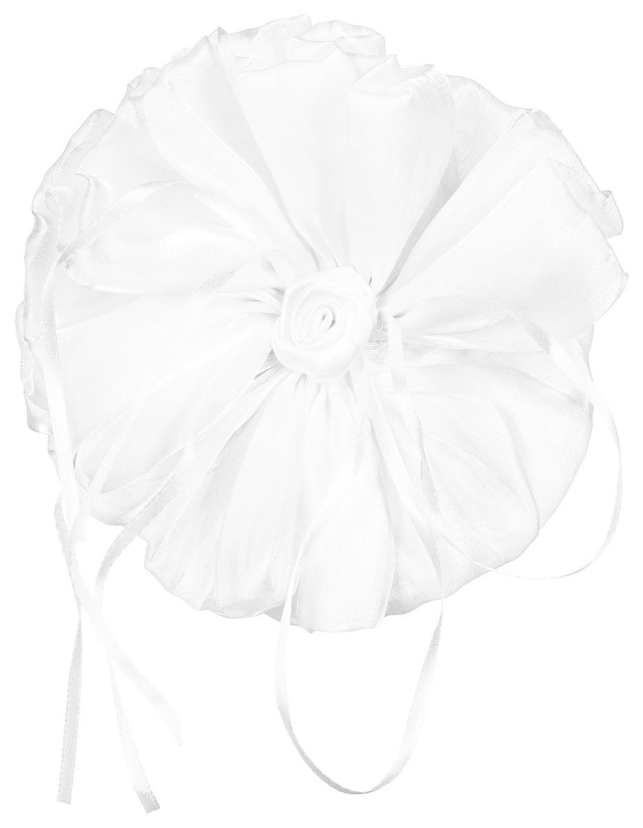 Резинка-бант Fashion House, цвет: белый. FH31826