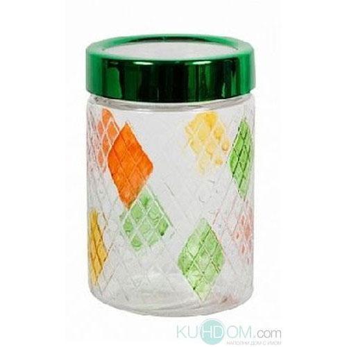 Банка для сыпучих продуктов Bohmann Ромбы, цвет: прозрачный, оранжевый, зеленый, 1,3 л01335BHGNEWБанка Bohmann Ромбы изготовлена из стекла. Емкость снабжена пластиковой крышкой, которая плотно закрывается, дольше сохраняя аромат и свежесть содержимого. Банка подходит для хранения сыпучих продуктов: круп, специй, сахара, соли. Такая банка станет полезным приобретением и пригодится на любой кухне. Диаметр (по верхнему краю): 10,5 см. Высота (без учета крышки): 16,5 см.