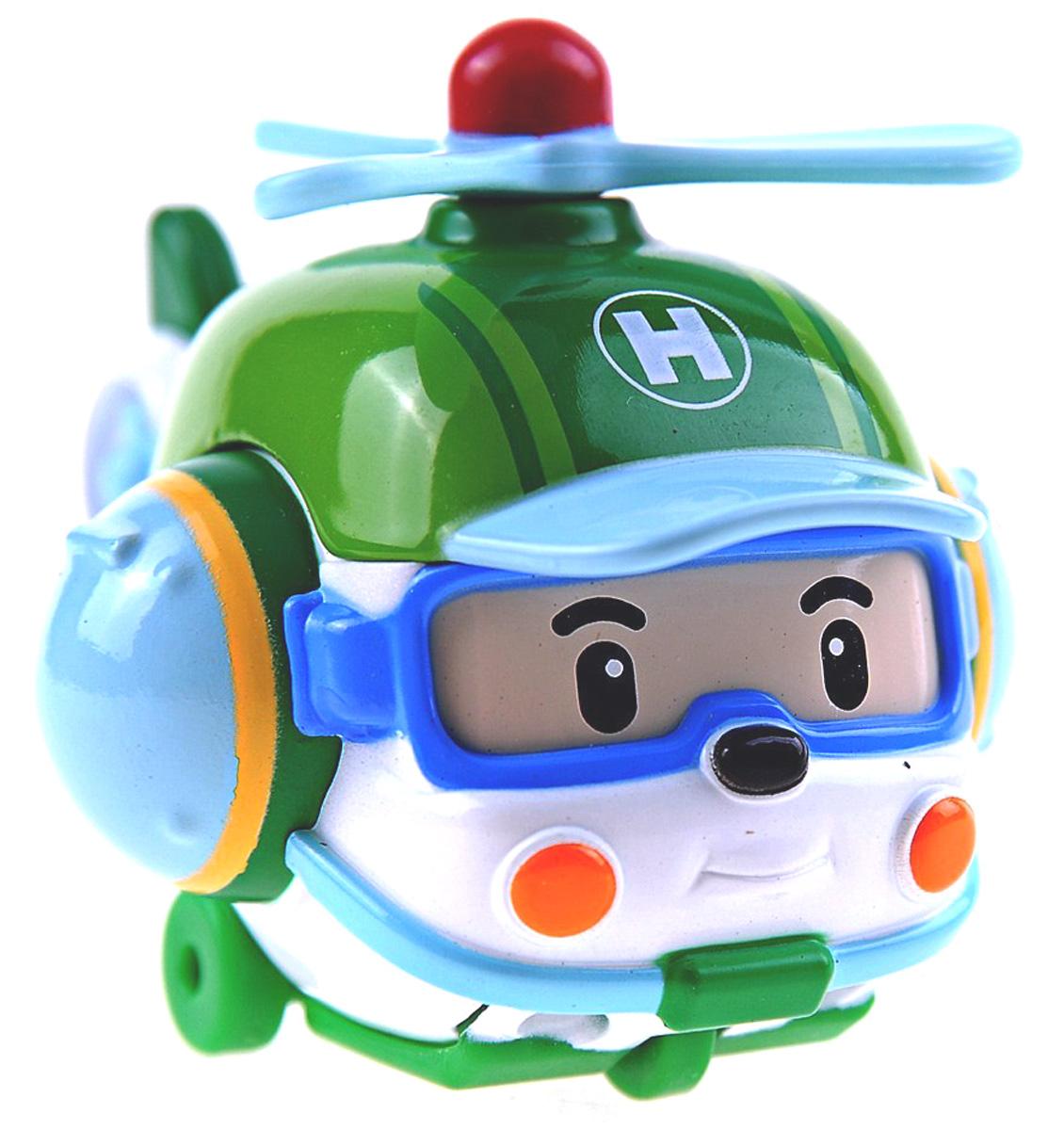 Robocar Poli Игрушка Вертолет Хэлли83160Яркая игрушка Poli Вертолет Хэлли непременно понравится вашему малышу. Она выполнена из металла с элементами пластика в виде спасательного вертолета Хэлли - персонажа популярного мультсериала Robocar Poli. Хэлли оснащен крутящимся винтом, а также колесиками со свободным ходом, позволяющими катать вертолетик. Благодаря небольшому размеру ребенок сможет взять игрушку с собой на прогулку, в поездку или в гости. Порадуйте своего малыша таким замечательным подарком!