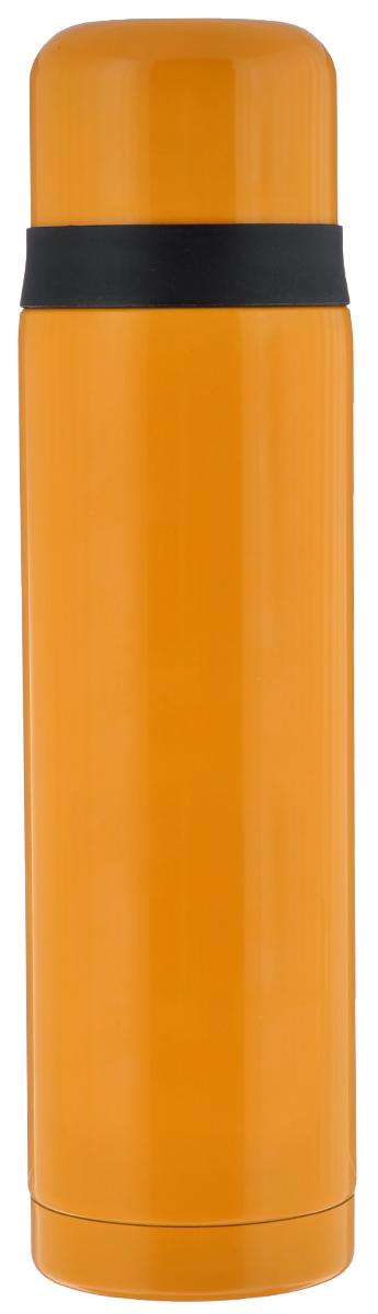 Термос Leifheit Coco, цвет: желтый, черный, 1 л28530Простая и гармоничная форма термоса Leifheit Coco, выполненного из высококачественной стали, удовлетворит желания любого потребителя. Термос оснащен клапаном и поворотной крышкой, которую можно использовать в качестве стакана. Благодаря корпусу с двойными стенками термос сохранит ваши напитки горячими или холодными надолго. Диаметр горлышка термоса: 5 см. Диаметр крышки: 8 см. Высота термоса (с учетом крышки): 30 см.
