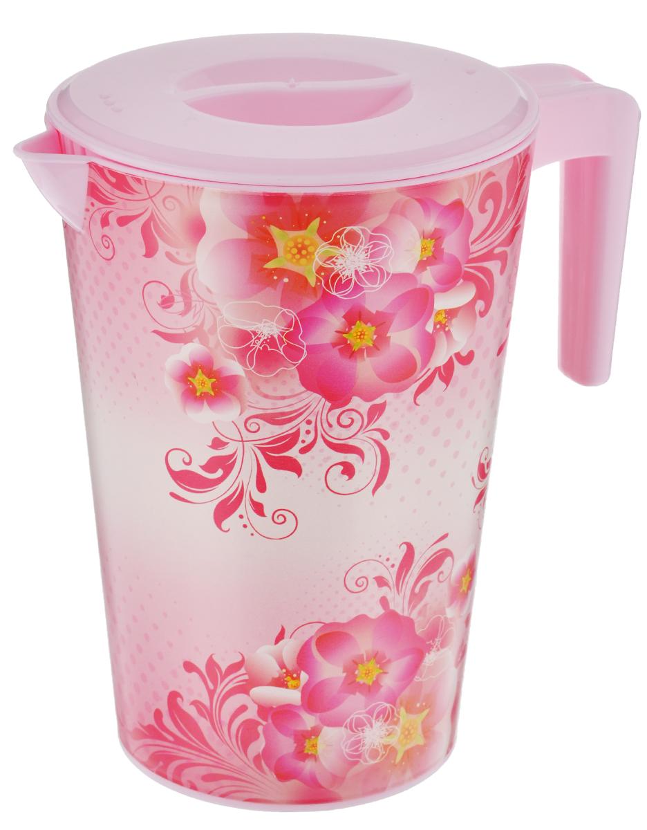 Кувшин Альтернатива Версаль, с крышкой, цвет: розовый, 2 лM1944Кувшин Альтернатива Версаль, выполненный из пластика и декорированный ярким цветочным рисунком, элегантно украсит ваш стол. Изделие оснащено удобной ручкой, носиком для выливания жидкости и плотно закрывающейся крышкой. Подойдет для подачи воды, сока, компота и других напитков. Кувшин Альтернатива Версаль дополнит интерьер вашей кухни и станет замечательным подарком к любому празднику. Диаметр (по верхнему краю): 14 см. Диаметр основания: 10,5 см. Высота кувшина: 19,5 см.