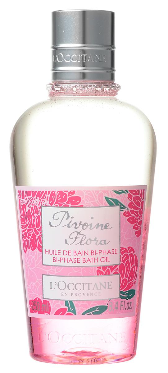 LOccitane Масло для ванны Пион, двухфазное, 250 мл337011Двухфазное масло для ванны от LOccitane Пион в мгновение превратит обычную воду в молочную ванну. Оно эффективно смягчает жесткую воду и оставляет на коже тонкий цветочный аромат пиона. Объем: 250 мл. Товар сертифицирован.