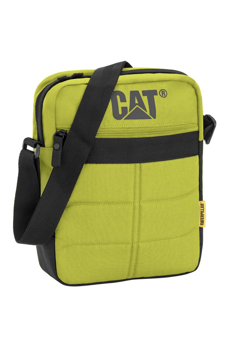 Сумка-планшет Caterpillar Ryan, цвет: салатовый, черный, 7 л80005-171Стильная сумка-планшет Caterpillar Ryan выполнена из полиэстера. Изделие имеет одно основное отделение, закрывающееся на застежку-молнию. Внутри имеется мягкий карман для планшета, который закрывается на хлястик с липучкой. Снаружи, на передней стенке находится прорезной карман на застежке-молнии. На задней стенке расположен накладной карман на липучке. Сумка оснащена регулируемым текстильным плечевым ремнем. Стильная сумка-планшет Caterpillar Ryan эффектно дополнит ваш образ и станет незаменимой в повседневной жизни.