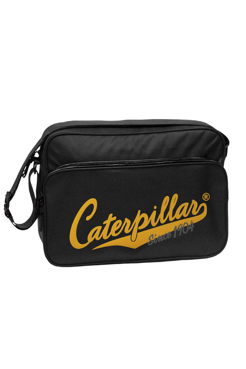 Сумка на плечо Caterpillar, цвет: черный, 16 л82601-01Стильная сумка Caterpillar выполнена из полиэстера. Изделие имеет одно отделение, которое закрывается на застежку-молнию. Внутри имеется мягкий карман для ноутбука (15,6), закрывающийся на хлястик с липучкой. Снаружи, на передней стенке находится накладной карман на застежке-молнии, внутри которого находятся три открытых накладных кармашка и два держателя для авторучек. На задней стенке предусмотрен прорезной карман на застежке-молнии. Сумка оснащена текстильным плечевым ремнем, который регулируется по длине. Стильная сумка Caterpillar станет незаменимой в повседневной жизни.