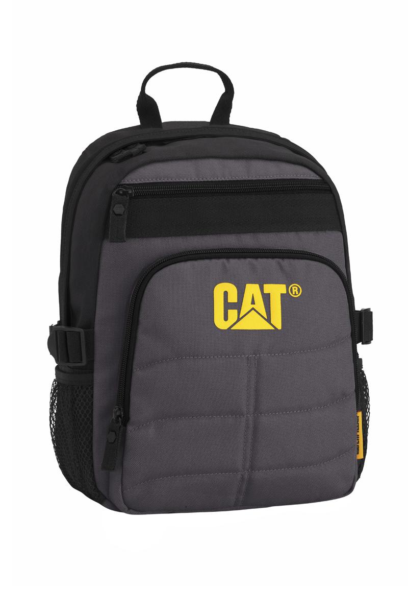 Рюкзак детский Caterpillar Brent, цвет: черный, серый, 9 л82931-172Стильный детский рюкзак Caterpillar Brent изготовлен из полиэстера. Рюкзак имеет одно основное отделение, которое закрывается на застежку-молнию с двумя бегунками. Снаружи, на передней стенке расположен прорезной карман на застежке-молнии и накладной карман на застежке-молнии. По бокам расположены сетчатые карманы на резинках для бутылок воды. Уплотненная спинка с сетчатыми вставками обеспечивает комфорт при переноске изделия. Рюкзак оснащен удобными широкими лямками с мягкой подкладкой, которые регулируются по длине, и текстильной ручкой. Лямки дополнены перемещаемым грудным ремнем, который регулируется по длине. По бокам изделие фиксируется на текстильные регулируемые ремни, пропущенные через пластиковые шлевки. Стильный рюкзак Caterpillar Brent непременно понравится вашему ребенку и станет незаменимым.