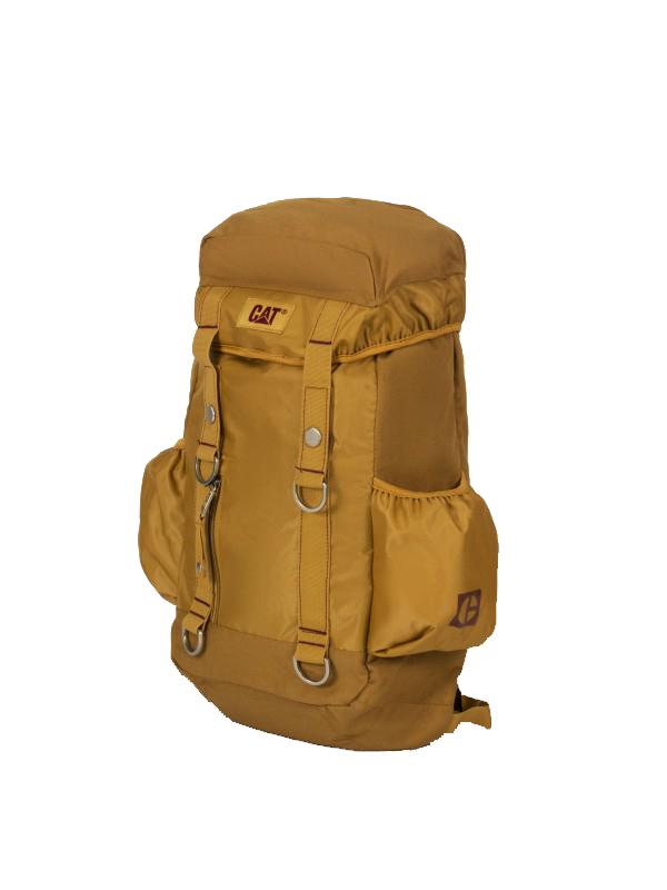 Рюкзак Caterpillar Code, цвет: песочный, 20 л82945-108Стильный рюкзак Caterpillar Code изготовлен из полиэстера и нейлона. Рюкзак имеет одно основное отделение, которое закрывается на затягивающийся шнурок. Внутри имеется прорезной карман на застежке-молнии. Закрывается изделие на клапан с липучками. Клапан оснащен прорезным карманом на застежке-молнии. Снаружи, на передней стенке находится дополнительный прорезной карман на застежке-молнии. По бокам расположены накладные карманы на резинках для бутылок воды. Модель оснащена боковым мягким карманом на застежке-молнии для ноутбука (15,6). Рюкзак оснащен удобными широкими лямками с мягкой подкладкой, которые регулируются по длине, и текстильной ручкой. Лямки дополнены перемещаемым грудным ремнем, который регулируется по длине. Стильный рюкзак Caterpillar Code станет незаменимым в повседневной жизни.