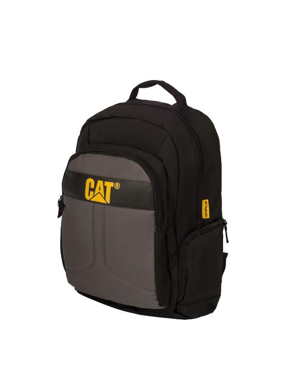 Рюкзак Caterpillar Colegio, цвет: черный, серый, 23 л83060-172Стильный рюкзак Caterpillar Colegio изготовлен из полиэстера. Рюкзак имеет одно основное отделение, которое закрывается на застежку-молнию с двумя бегунками. Внутри содержится отделение для ноутбука (15,6) с мягким карманом для планшета, которое закрывается на хлястик с липучкой. Снаружи, на передней стенке расположен накладной карман на застежке-молнии, внутри которого предусмотрено два накладных открытых кармашка и два держателя для авторучек. По бокам расположены дополнительные карманы на застежках-молниях. Спинка с сетчатой поверхностью хорошо пропускает воздух. Рюкзак оснащен удобными широкими лямками с мягкой подкладкой, которые регулируются по длине. Лямки дополнены перемещаемым нагрудным регулируемым ремнем. Текстильная ручка удобна для подвешивания модели и для переноски в руках. Стильный рюкзак Caterpillar Colegio эффектно дополнит ваш яркий образ и станет незаменимым в повседневной жизни.