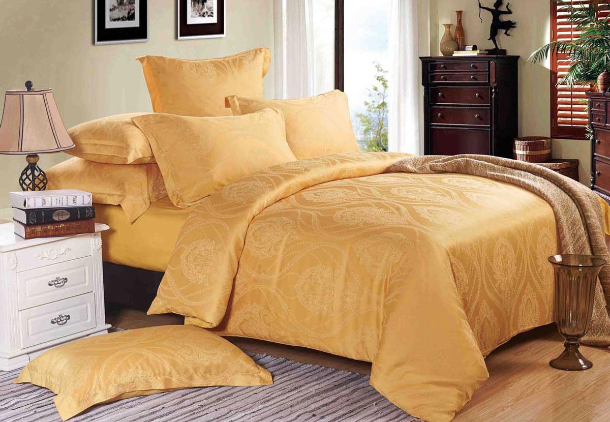 Комплект белья Primavelle Иония, 2-спальный, наволочки 70х70, цвет: золотой175215704-tc16Комплект белья Primavelle Этель, изготовленный из 20% хлопка и 80% танселя, состоит из пододеяльника, простыни и двух наволочек. Тенсел (Tencel) – это современное экологически чистое натуральное волокно из целлюлозы эвкалипта. Ткань обладает отличными гигиеническими свойствами, воздухопроницаемостью и гипоаллергенностью. Производство тенселя — искусственное и является практически безотходным, что не наносит вреда окружающей среде. Благодаря современным технологиям окраски, белье не теряет свой цвет даже после множества стирок. Верх пододеяльника, и наволочки - из тенселя, низ пододеяльника и простыня - сатин. Рекомендации по уходу: - Ручная и машинная стирка при температуре не более 40°С, - Не отбеливать, - Гладить при средней температуре, - Сушить в стиральной машине при средней температуре, -Химчистка запрещена.