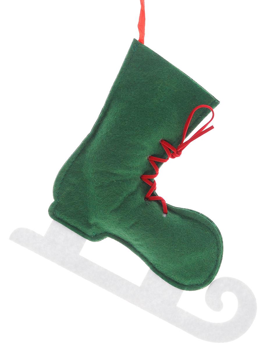 Новогоднее подвесное украшение Феникс-Презент Зеленый конек, цвет: зеленый, белый, 20 х 18 см38659_ЗеленыйОригинальное новогоднее украшение Феникс-Презент Зеленый конек выполнено из нетканого материала в виде конька. С помощью специальной текстильной петельки украшение можно подвесить в любом понравившемся вам месте. Но, конечно же, удачнее всего такая игрушка будет смотреться на праздничной елке. Новогодние украшения приносят в дом волшебство и ощущение праздника. Создайте в своем доме атмосферу веселья и радости, украшая всей семьей новогоднюю елку нарядными игрушками, которые будут из года в год накапливать теплоту воспоминаний.