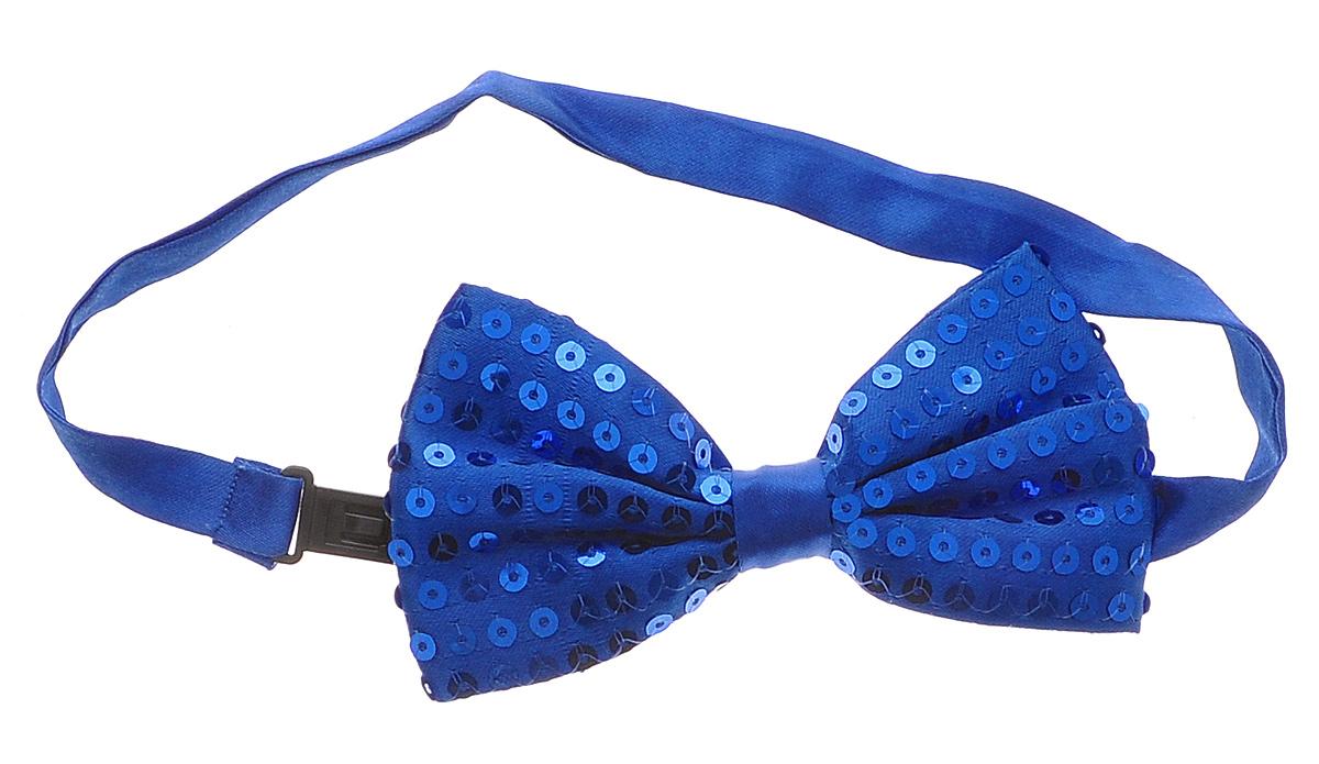 Галстук-бабочка маскарадный Феникс-Презент, цвет: синий34640Маскарадный галстук-бабочка Феникс-Презент изготовлен из полиэстера и оформлен пайетками. Галстук-бабочка дополнен лентой с пластиковой защелкой. Длина ленты регулируется. Такой галстук-бабочка дополнит ваш праздничный образ. Если у вас намечается веселая вечеринка или маскарад, то такой аксессуар легко поможет дополнить праздничный наряд. Внесите нотку задора и веселья в ваш праздник.