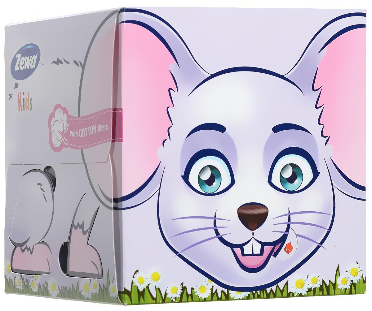 Zewa Бумажные платочки в коробке Kids. Мышка, детские, 60 шт02.03.05.3350_мышкаВеселый дизайн уникальных носовых платочков в коробках Zewa Kids 3D для детей превращает процесс сморкания из тяжелого испытания в увлекательное занятие. Трехслойные носовые платочки в коробках вместе со смешными раскладными зверушками должны быть в каждой семье, где есть дети. Зверушки собираются из коробки. Товар сертифицирован.