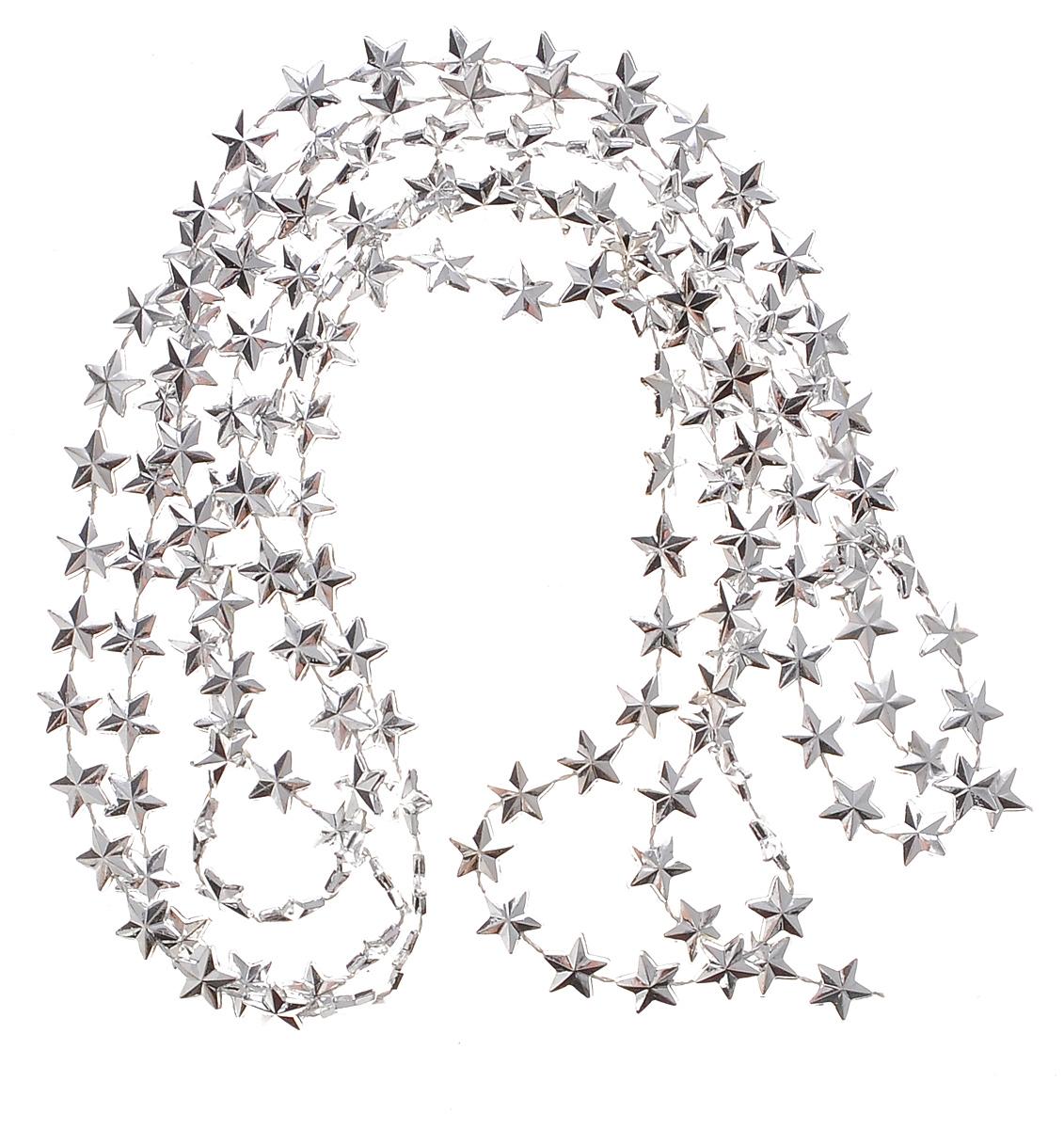 Гирлянда новогодняя Euro House Снежинки, цвет: серебристый, длина 2 мЕХ9309_серебренныйНовогодняя гирлянда Euro House Снежинки, выполненная из пластика, украсит интерьер вашего дома или офиса в преддверии Нового года. Гирлянда представляет собой бусины в виде звезд на нити. Оригинальный дизайн и красочное исполнение создадут праздничное настроение. Новогодние украшения всегда несут в себе волшебство и красоту праздника. Создайте в своем доме атмосферу тепла, веселья и радости, украшая его всей семьей. Ширина гирлянды: 1,1 см.