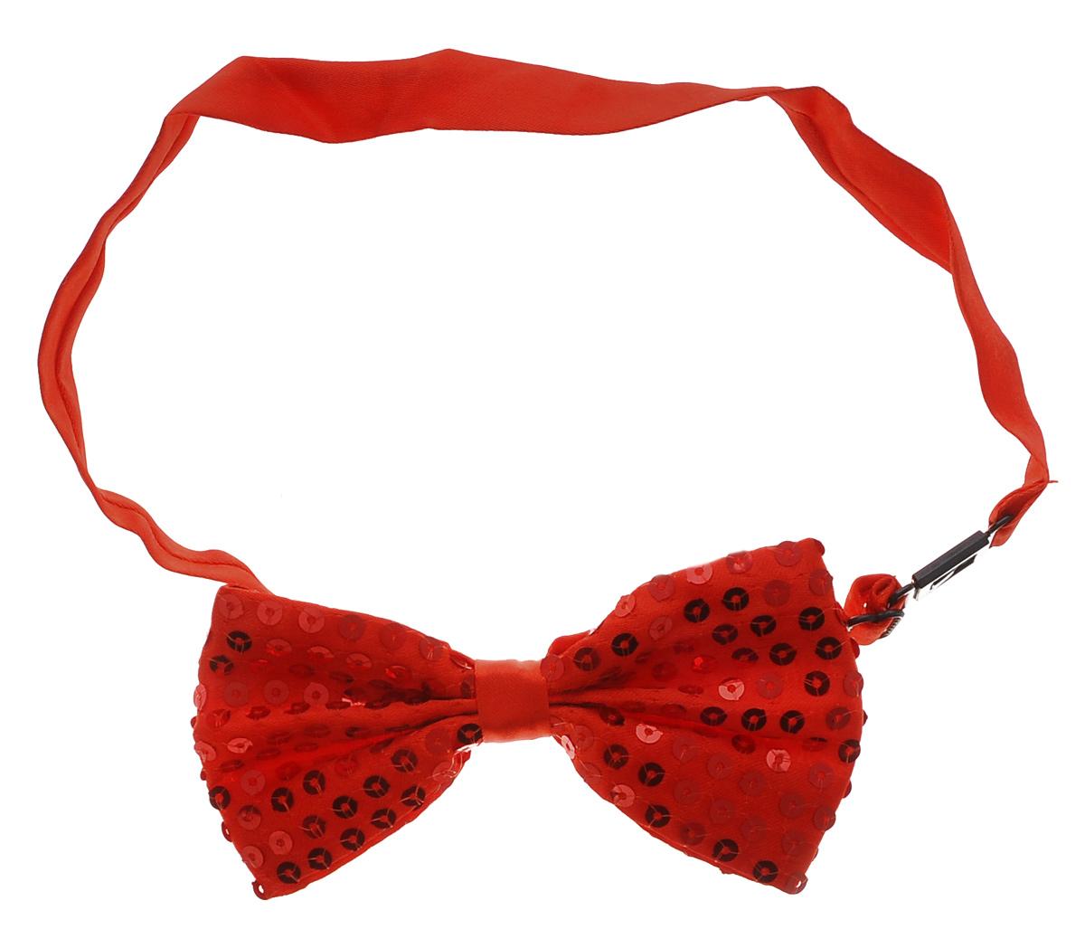 Галстук-бабочка маскарадный Феникс-Презент, цвет: красный34639Маскарадный галстук-бабочка Феникс-Презент изготовлен из полиэстера и оформлен пайетками. Галстук- бабочка дополнен лентой с пластиковой защелкой. Длина ленты регулируется. Такой галстук-бабочка дополнит ваш праздничный образ. Если у вас намечается веселая вечеринка или маскарад, то такой аксессуар легко поможет дополнить праздничный наряд. Внесите нотку задора и веселья в ваш праздник.