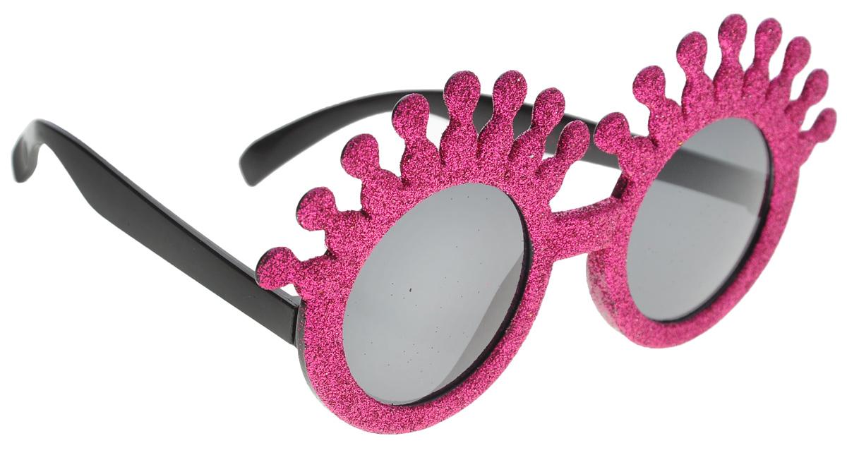 Очки карнавальные Lunten Ranta Летние, цвет: фуксия59819_фуксияКарнавальные очки Lunten Ranta Летние помогут создать яркий маскарадный образ и подарят веселое праздничное настроение. Очки выполнены из пластика и декорированы блестками. Если у вас намечается веселая вечеринка или маскарад, то такие очки легко помогут создать праздничную атмосферу. Внесите нотку задора и веселья в ваш праздник. Веселое настроение и масса положительных эмоций будут обеспечены!