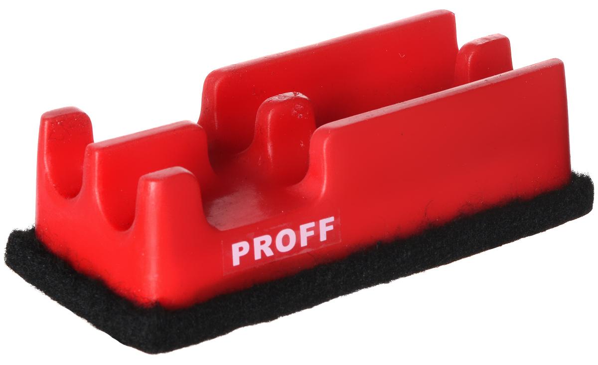 Proff Губка для офисных досок цвет красныйPF-12404_красныйГубка для офисных досок Proff - неотъемлемый атрибут любого офиса. Она предназначена специально для маркерных и меловых досок. Губка имеет прямоугольную форму. Верхняя ее часть изготовлена из пластика красного цвета и оснащена двумя отсеками-держателями для маркеров. Стирающий элемент выполнен из войлока.