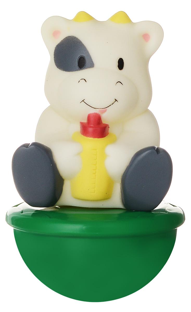 Mommy Love Погремушка-неваляшка КороваRP223-5/9DBПогремушка-неваляшка Mommy Love Корова не позволит скучать вашему малышу на улице и дома. Игрушка выполнена из прочных материалов в виде милой коровки на подставке. Неваляшка забавно покачивается под приятный звук погремушки, развлекая малыша. Неваляшка развивает мелкую моторику, координацию, слух и цветовое восприятие.