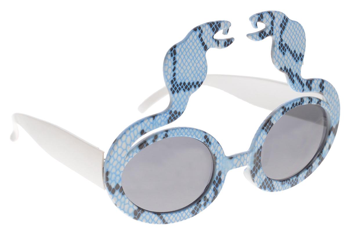 Очки карнавальные Феникс-презент Кобры, цвет: голубой - Феникс-Презент25007Карнавальные очки Феникс-презент Кобры, выполнены из пластика в виде бело-голубых кобр. Они отлично дополнят ваш маскарадный костюм и помогут создать яркий образ. Очки предназначены для быстрого и необременительного перевоплощения на костюмированной вечеринке или маскараде. Сделайте свой праздник веселым и ярким!