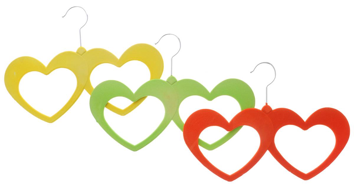 Набор вешалок для аксессуаров El Casa, цвет: желтый, зеленый, красный, 3 шт. 150042150042Набор разноцветных вешалок El Casa, изготовленный из пластика, имеет велюровое антискользящее покрытие. Благодаря легкому и прочному каркасу изделия идеально подходят для шарфов и платков. Вешалка - это незаменимая вещь для того, чтобы ваша одежда всегда оставалась в хорошем состоянии. Комплектация: 3 шт. Размер вешалки: 32 см х 23 см х 0,5 см.