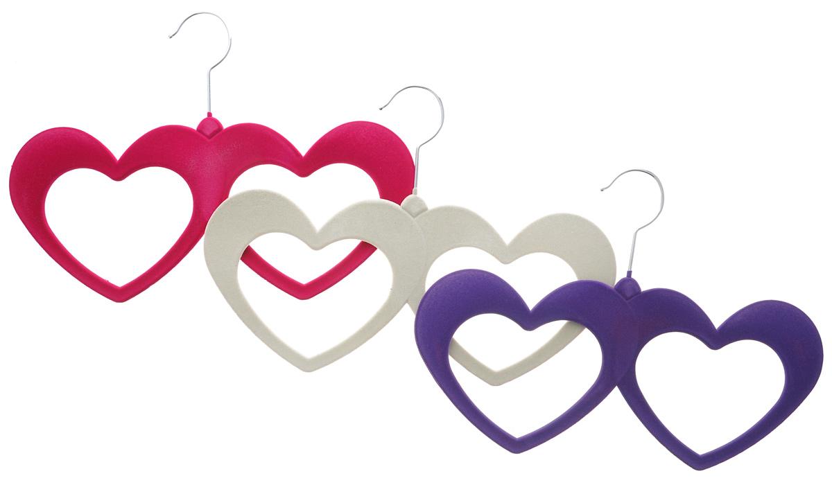 Набор вешалок для аксессуаров El Casa, цвет: фиолетовый, малиновый, молочный, 3 шт. 150044150044Набор разноцветных вешалок El Casa, изготовленный из пластика, имеет велюровое антискользящее покрытие. Благодаря легкому и прочному каркасу изделия идеально подходят для шарфов и платков. Вешалка - это незаменимая вещь для того, чтобы ваша одежда всегда оставалась в хорошем состоянии. Комплектация: 3 шт. Размер вешалки: 32 см х 23 см х 0,5 см.