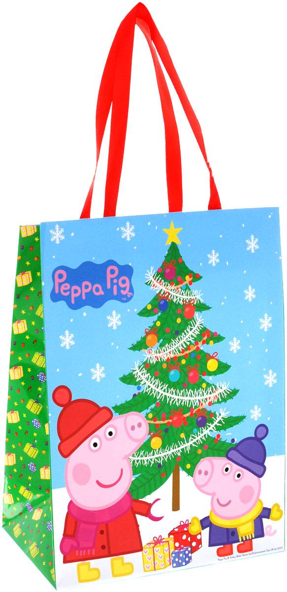 Peppa Pig Пакет подарочный Пеппа зимой 23 см х 18 см х 10 см28845Яркий подарочный пакет Пеппа зимой с очаровательными героями мультфильма Свинка Пеппа празднично украсит ваш новогодний подарок. Для удобной переноски на пакете имеются две атласные ручки. Подарок, преподнесенный в оригинальной упаковке, всегда будет самым эффектным и запоминающимся. Окружите близких людей вниманием и заботой, вручив презент в нарядном, праздничном оформлении.