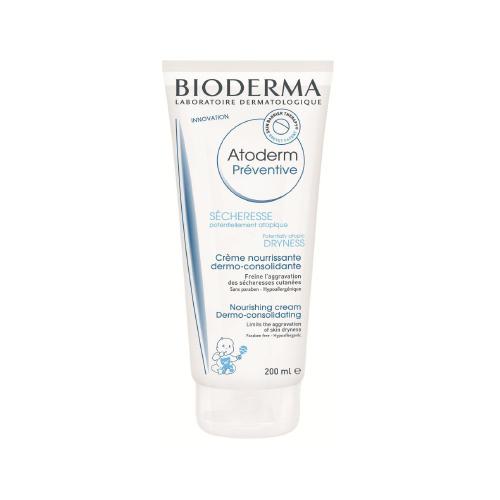 BiodermaAtoderm профилактический уход для тела 200 мл28114Профилактический уход разработан для уменьшения сухости кожи, которая может возникнуть с рождения.Запатентованный комплекс биологически активных компонентов восстановливает барьер кожи. Мультиламеллярная формула. Уменьшает сухость кожи, восстанавливает кожный барьер