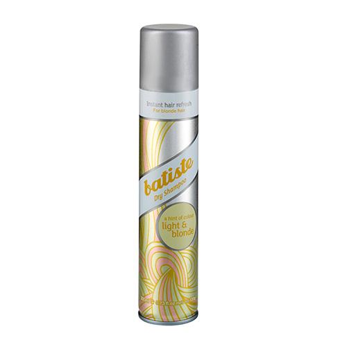Batiste LIGHT Сухой шампунь Hint of colour 200 мл502382Batiste LIGHT сухой шампунь, который был разработан для обладательниц светлых или окрашенных в оттенки блонд волос. Его также, как и Batiste Original удобно использовать в дни между основным мытьем головы, помимо этого шампунь содержит небольшое количество желтого пигмента, который способен подстроиться под оттенок волос и замаскировать неокрашенные корни. Сухой шампунь быстро и эффективно очищает и освежает волосы.