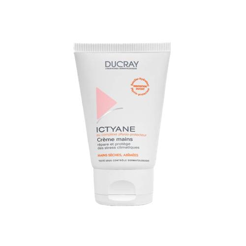 Ducray Крем Ictyane для рук 50млC18607Смягчает, восстанавливает поврежденную кожу рук. Образует на поверхности кожи нежирную устойчивую защитную пленку. Увлажняет, смягчает и восстанавливает кожу рук