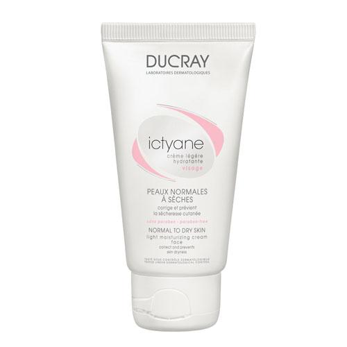 Ducray Легкий увлажняющий крем Ictyane 50млC18613Обеспечивает сухой коже идеальное увлажнение. Формирует на поверхности кожи защитную пленку. Предотвращает потерю воды кожей. Увлажняет и восстанавливает гидролипидный баланс кожи