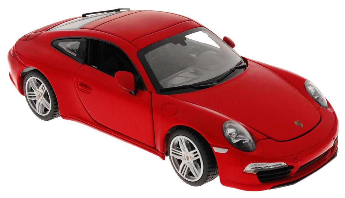 Rastar Коллекционная модель Porsche 911 Carrera S цвет красный56200_красныйКоллекционная модель Rastar Porsche 911 Carrera S привлечет внимание как ребенка, так и взрослого коллекционера. Машинка является точной уменьшенной копией настоящего автомобиля. Модель выполнена из металла с использованием пластика и оснащена резиновыми колесами, обеспечивающими хорошее сцепление с любой поверхностью пола. Колеса и руль вращаются, капот и дверцы открываются. Коллекционная модель Rastar Porsche 911 Carrera S станет отличным подарком и украшением любой коллекции!