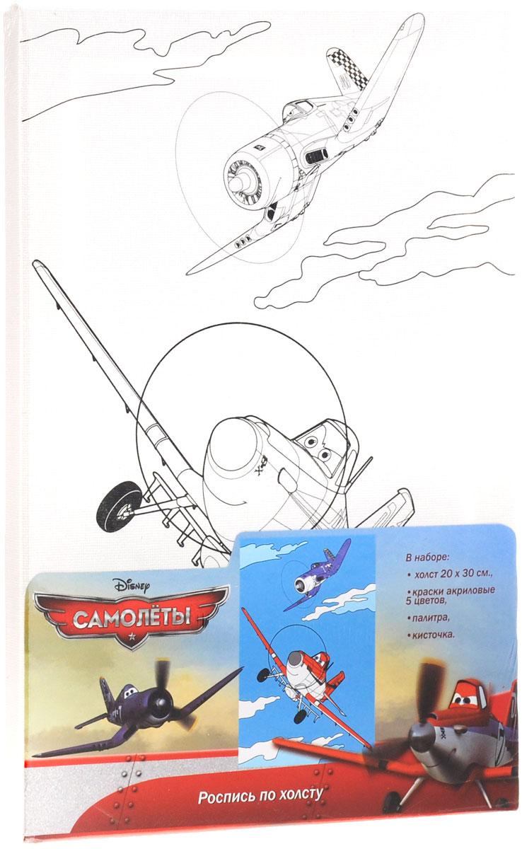Planes Набор для росписи по холсту Самолеты26151Набор для росписи по холсту Planes Самолеты станет отличным подарком для юного художника. В нем вы найдете все необходимое для того, чтобы создать яркую и красивую картину с изображением персонажей из одноименного мультфильма. Набор включает в себя: плотный отбеленный загрунтованный холст (плотность - 280 г/м) с уже нанесенным контурным рисунком, натянутый на деревянную рамку, 5 цветов акриловых красок в металлических тубах, палитру и кисточку. Насыщенные краски легко ложатся на холст. Выдавливайте их из тюбиков на палитру, рисуйте кисточкой по образцу или придумывайте свой собственный дизайн. Получайте новые оттенки, смешивая разные цвета. Создавайте эффект прозрачности, разбавляя краски водой. Фантазируйте, развивайте художественное мастерство, мелкую моторику, твердость руки и просто получайте удовольствие от создания настоящего шедевра. Готовая картина станет предметом гордости ребенка, украсит интерьер детской комнаты, а также станет...