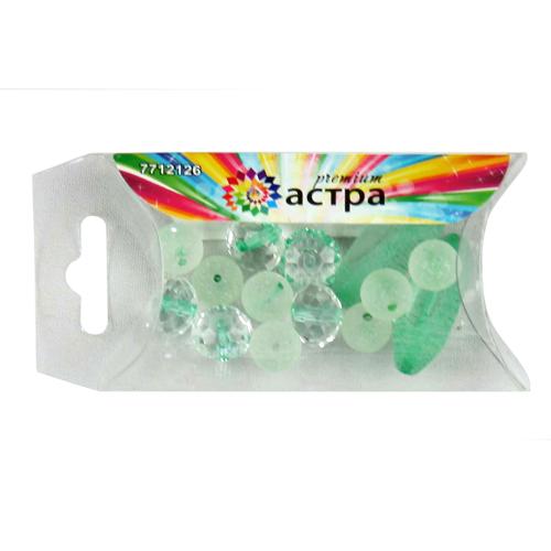 Набор декоративных бусин Астра Premium, цвет: прозрачный, зеленый, 14 шт. 7712127712126Набор бусин Астра Premium, изготовленный из стекла, поможет вам своими руками создать удивительно красивое ожерелье или браслет. Каждая бусина имеет по два отверстия для продевания нити или лески. Бусины разных форм декорированы многогранными рельефными поверхностями. Оригинальные бусины яркого необычного дизайна разнообразят вашу работу и добавят вдохновения для новых идей. Отвлекитесь от повседневных забот и создайте удивительный аксессуар, который к тому же и стильно дополнит ваш образ. Средний размер бусин: 12 мм х 12 мм х 8 мм.