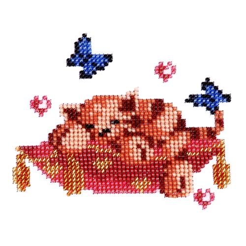 Набор для вышивания бисером Бисеринка Сладкие сны, 12 см х 10 см486245Набор для вышивания Бисеринка Сладкие сны поможет вам создать свой личный шедевр - красивую картину, вышитую бисером на канве. Вышивание отвлечет вас от повседневных забот и превратится в увлекательное занятие! Работа, сделанная своими руками, создаст особый уют и атмосферу в доме и долгие годы будет радовать вас и ваших близких, а подарок, выполненный собственноручно, станет самым ценным для друзей и знакомых. Набор содержит: - бисер Preciosa Ornels (Чехия), - ткань (габардин) с нанесенным цветным рисунком-схемой, - игла, - инструкция на русском языке.