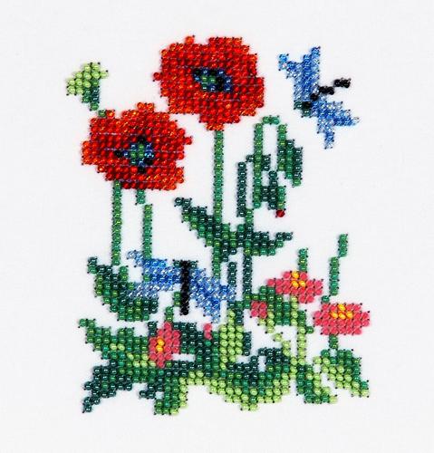 Набор для вышивания бисером Бисеринка Маки, 9 х 11 см549653Набор для вышивания Бисеринка Маки поможет вам создать свой личный шедевр - красивую картину, вышитую бисером на канве. Вышивание отвлечет вас от повседневных забот и превратится в увлекательное занятие! Работа, сделанная своими руками, создаст особый уют и атмосферу в доме и долгие годы будет радовать вас и ваших близких, а подарок, выполненный собственноручно, станет самым ценным для друзей и знакомых. Набор содержит: - бисер Preciosa Ornels (Чехия), - ткань (габардин) с нанесенным цветным рисунком-схемой, - игла, - инструкция на русском языке.