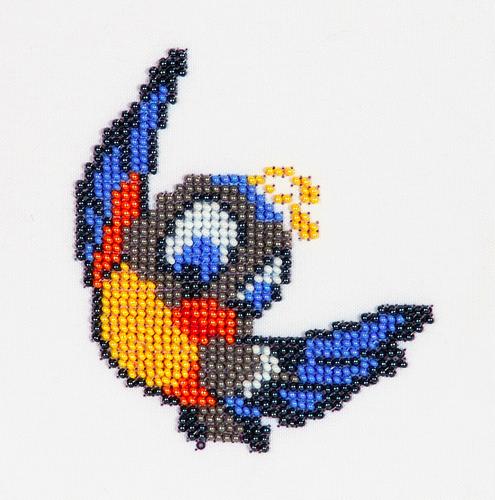 Набор для вышивания бисером Бисеринка Птичка, 9 см х 10 см580580Набор для вышивания Бисеринка Птичка поможет вам создать свой личный шедевр - красивую картину, вышитую бисером на канве. Вышивание отвлечет вас от повседневных забот и превратится в увлекательное занятие! Работа, сделанная своими руками, создаст особый уют и атмосферу в доме и долгие годы будет радовать вас и ваших близких, а подарок, выполненный собственноручно, станет самым ценным для друзей и знакомых. Набор содержит: - бисер Preciosa Ornels (Чехия), - ткань (габардин) с нанесенным цветным рисунком-схемой, - игла, - инструкция на русском языке.