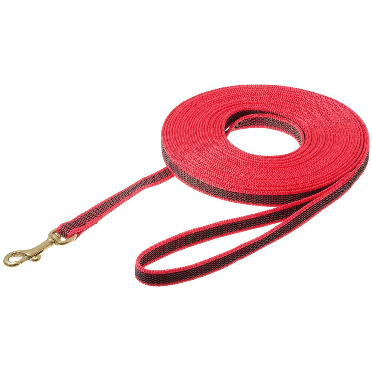 Поводок нейлоновый с карабином V.I.Pet для собак, 10 м73-2588_красный/бронзовый карабинПоводок V.I.Pet, изготовленный из нейлона с латексной нитью, прекрасно подойдет для собак крупных пород. Поводок применяется для прогулок и дрессировки собаки. Он отличается большой длиной, высокой прочность и долговечностью. Поводок снабжен надежным карабином. Специальный переходник позволяет карабину крутиться вокруг своей оси, предотвращая запутывание поводка. На поводке имеется петля, которая одевается на руку для более удобного использования. Длина поводка: 10 м. Ширина поводка: 1,5 см.