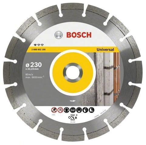 Bosch Диск алмазный универсальный 230х22,2х2,3 мм2608602195
