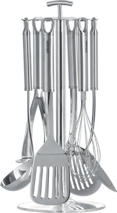 Набор кухонных инструментов Nadoba Karolina, 7 предметов . 721022721022Высокая прочность и долговечность в использовании. Зеркальная полировка рабочих частей. Высококачественная нержавеющая сталь. Гарантия 5 лет.