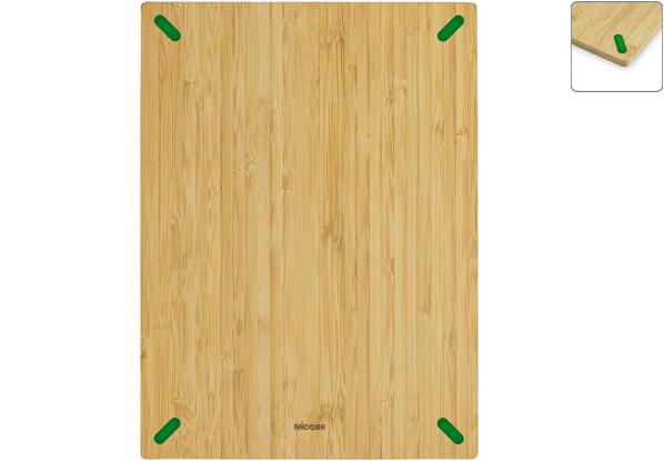 Разделочная доска из бамбука Nadoba Stana, 38 ? 28 см. 722010722010Не скользит по столешнице. Натуральный бамбук, противоскользящие резиновые вставки. Гарантия 3 года.