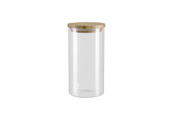 Ёмкость для хранения Nadoba Vilema, 1 л . 741511741511Герметичная крышка из натурального бамбука. Прозрачное боросиликатное стекло. Гарантия 5 лет.