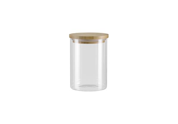 Ёмкость для хранения Nadoba Vilema, 0.7 л . 741512741512Герметичная крышка из натурального бамбука. Прозрачное боросиликатное стекло. Гарантия 5 лет.