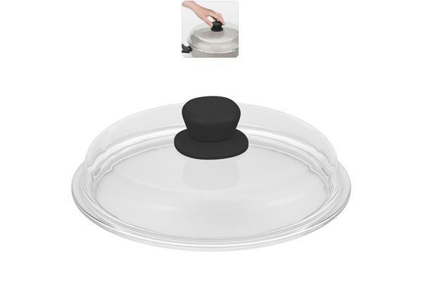 Крышка из боросиликатного стекла Nadoba Gela, диаметр 24 см751113Прочное закаленное боросиликатное стекло. Удобная ненагревающаяся ручка с силиконовым покрытием, предотвращающим выскальзывание. Легко моется благодаря безободной конструкции. Гарантия 5 лет.