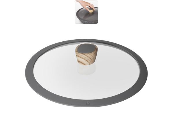 Крышка стеклянная Nadoba Mineralica, диаметр 26 см751212Силиконовый обод для плотного прилегания крышки. Удобная ненагревающаяся ручка с силиконовым покрытием, предотвращающим выскальзывание. Прочное закаленное стекло. Гарантия 5 лет.