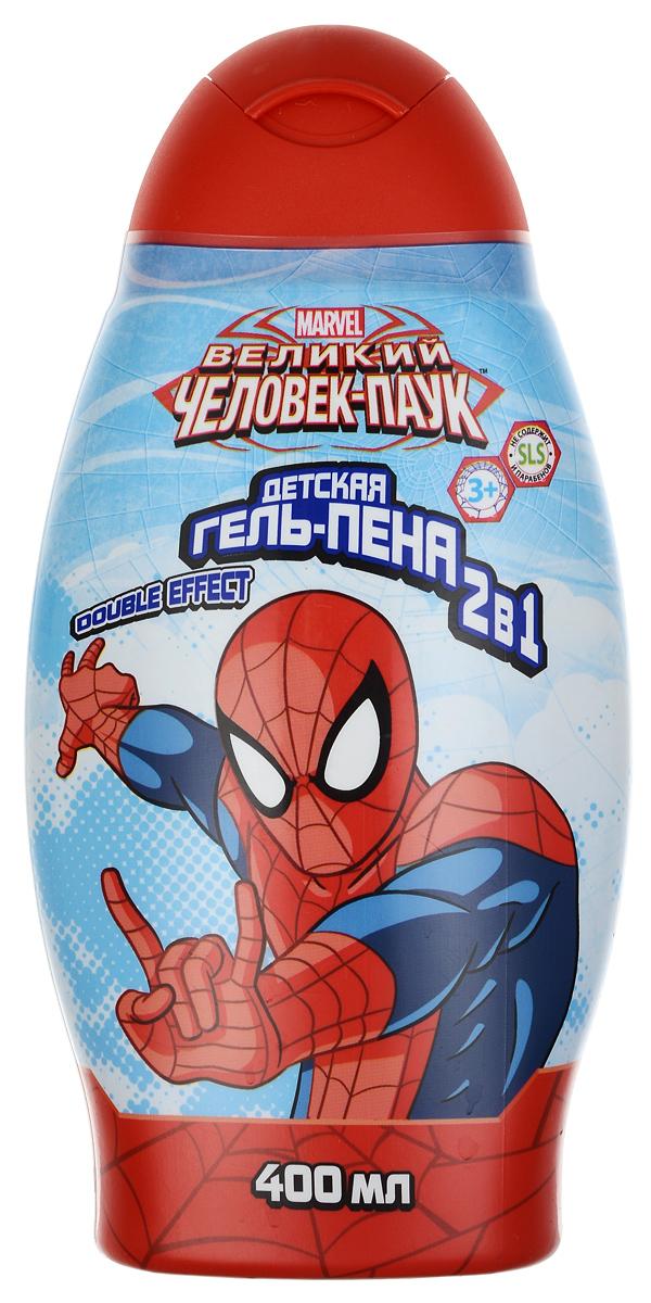 Spider-Man Гель-пена для ванны 2в1 Double effect, детский, 400 мл12052746Гель-пена для ванны 2в1 Double effect - это мощное оружие настоящего супер-героя, которое поможет победить усталость и скуку! Двойная сила гель-пены заряжает энергией на весь день. Натуральные компоненты и растительные экстракты, входящие в состав гель-пены, обеспечат бережный уход и позаботятся о красоте и здоровье кожи. Линия средств для настоящего супер-героя! Товар сертифицирован.