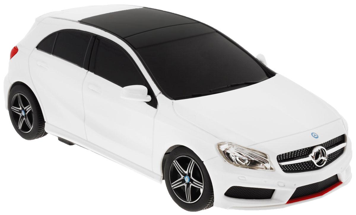 Rastar Радиоуправляемая модель Mercedes-Benz A-Class48800Радиоуправляемая модель Rastar Mercedes-Benz A-Class станет отличным подарком любому мальчику! Все дети хотят иметь в наборе своих игрушек ослепительные, невероятные и крутые автомобили на радиоуправлении. Тем более, если это автомобиль известной марки с проработкой всех деталей, удивляющий приятным качеством и видом. Одной из таких моделей является автомобиль на радиоуправлении Rastar Mercedes-Benz A-Class. Это точная копия настоящего авто в масштабе 1:24. Возможные движения: вперед, назад, вправо, влево, остановка. Имеются световые эффекты. Пульт управления работает на частоте 27 MHz. Для работы игрушки необходимы 3 батарейки типа АА (не входят в комплект). Для работы пульта управления необходимы 2 батарейки типа АА (не входят в комплект).