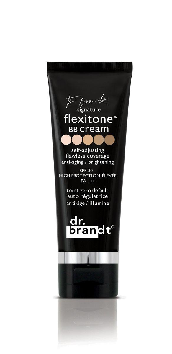 Dr. Brandt BB-крем с комплексом Флекситон, 30 г100828Многофункциональный крем сочетает омолаживающее, защитное, антиоксидантное действие с эффектом тонального и корректирующего средства. Благодаря уникальной технологии FLEXITONE, крем совершенно не заметен на коже и обеспечивает безупречный и абсолютно естественный здоровый и сияющий вид, восхитительную гладкость и красивый тон кожи. Технология FLEXITONE ™ корректирует все недостатки кожи, подходит для любого типа и любого тона кожи! Один оттенок подходит для всех! Технология flexitone™ основана на уникальной новейшей физико-химической структуре пигмент в пигменте. Пигменты не инкапсулированы, а скорее спрятаны в формуле. Цветные пигменты окружены белыми, и все они помещены в водомасляную эмульсию. Во время нанесения эта структура разрушается, постепенно высвобождая пигменты, которые подстраиваются под тон кожи, обеспечивая Вам возможность самостоятельно выбрать идеальный тон для кожи любого оттенка, в зависимости от количества нанесенного крема.